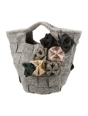 Wool Woven Basket Bag