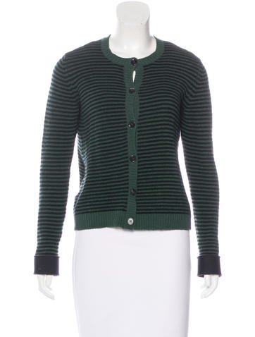 Marni Striped Wool-Blend Cardigan None