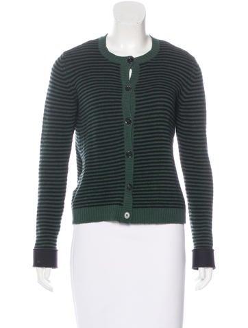 Marni Striped Wool-Blend Cardigan None