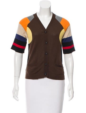 Marni Colorblock Virgin-Wool Cardigan None