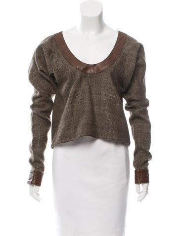 Marni Cashmere Herringbone Top None