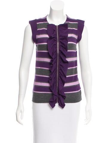 Marni Cashmere-Blend Stripe Cardigan None