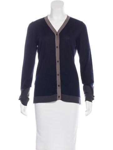 Marni Button-Up Cashmere Cardigan None