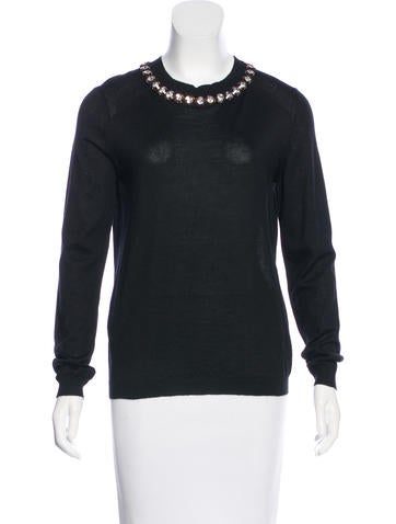 Marni Cashmere Embellished Sweater w/ Tags None