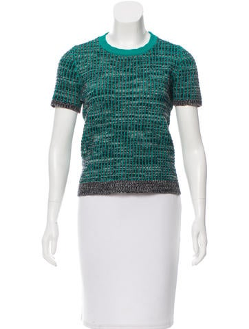 Marni Short Sleeve Knit Top None
