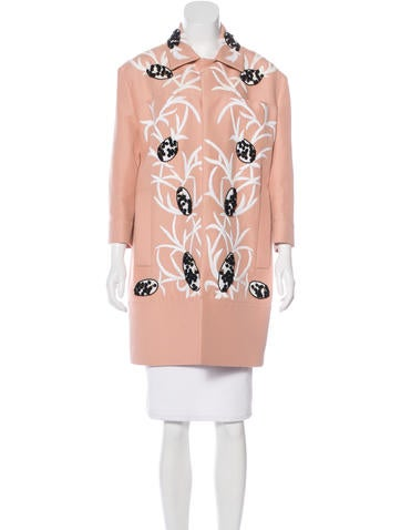 Marni Embroidered Knee-Length Coat