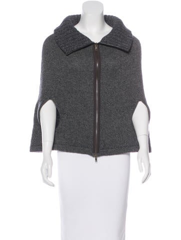 Marni Collared Cashmere Cape None