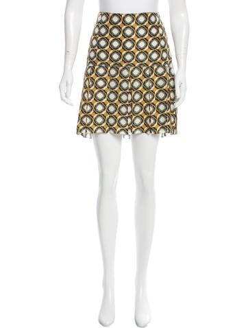 Marni Abstract Print Pleated Skirt