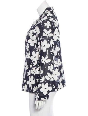 Lightweight Floral Blazer