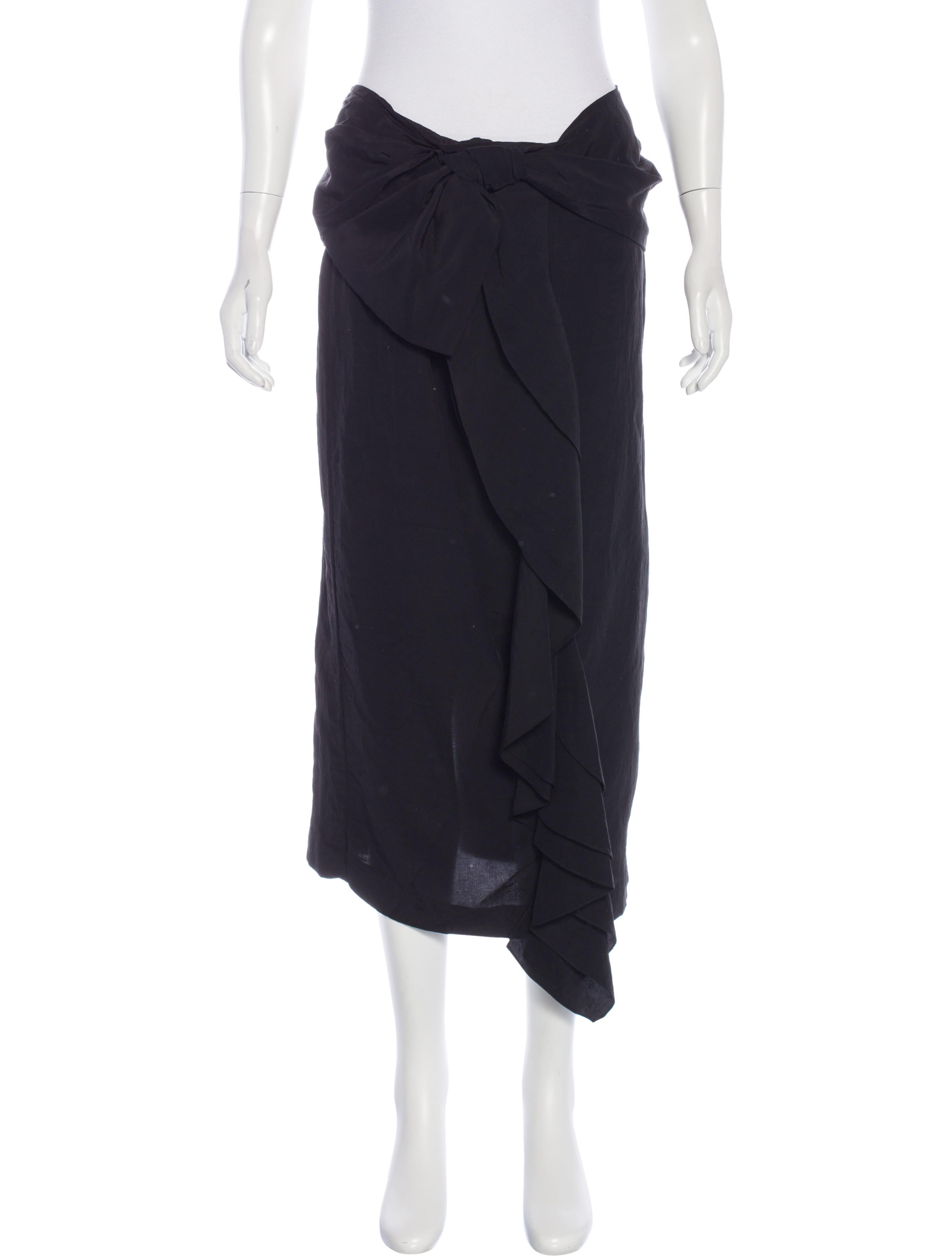 marni bow accented midi skirt clothing man52499 the