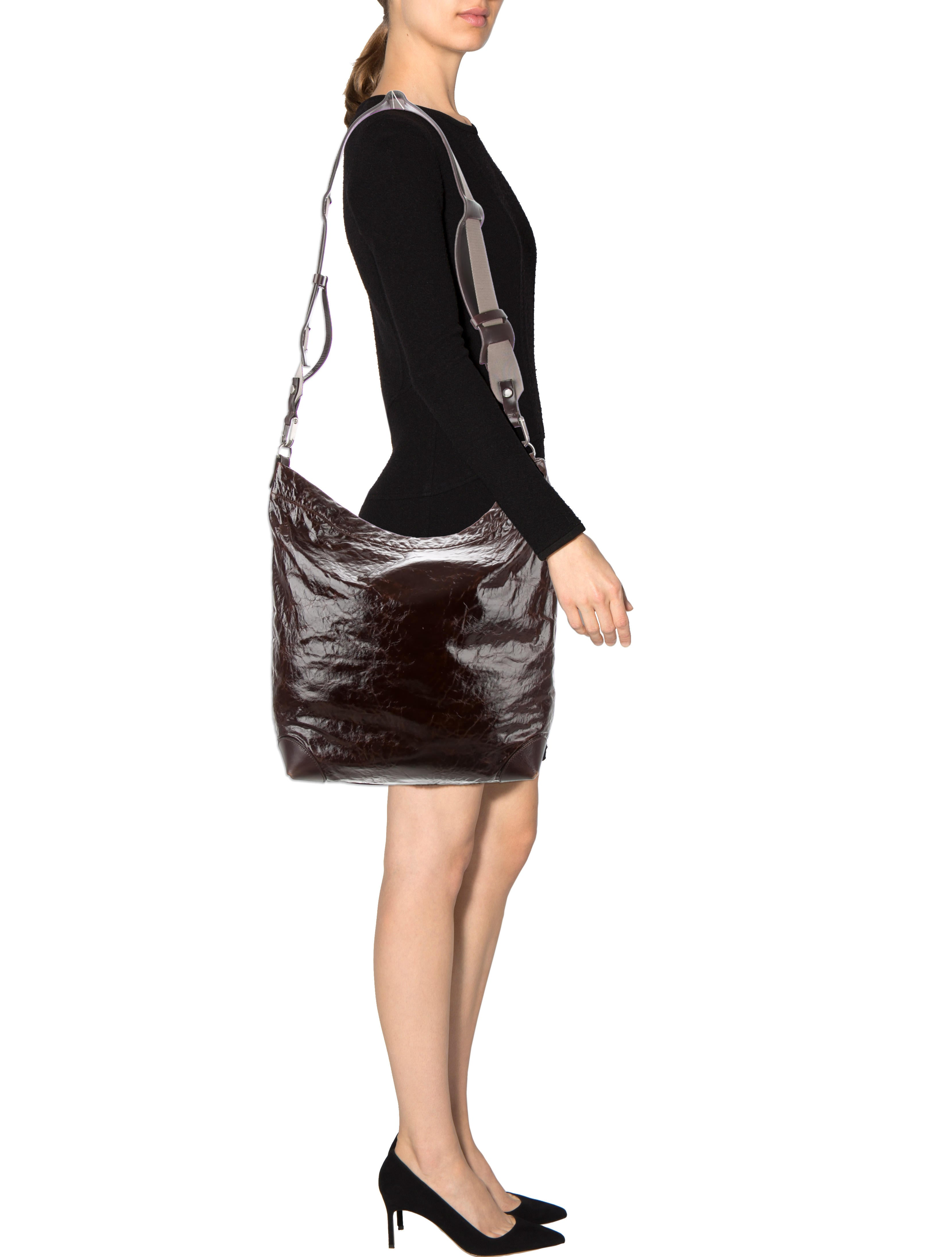 marni distressed leather messenger bag handbags