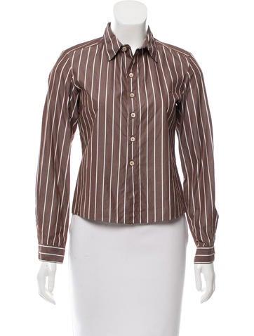 Marni Striped Button-Up Top None
