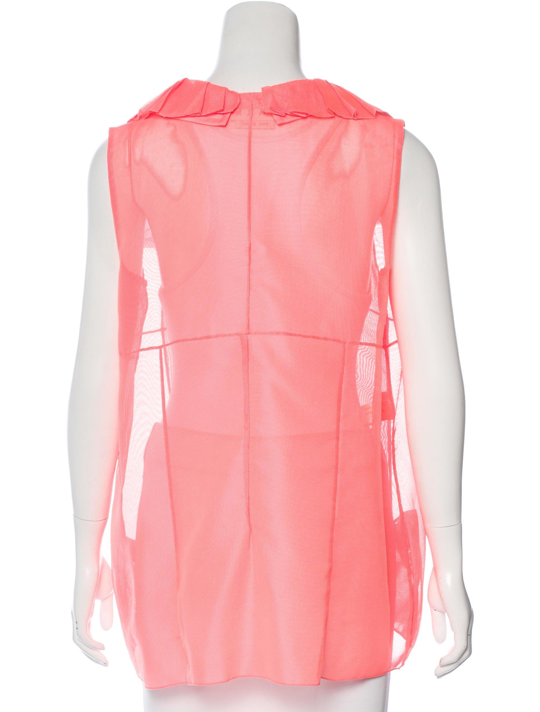 Stand Collar Blouse Designs Images : Marni stand collar tulle blouse clothing man