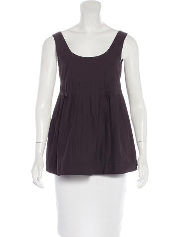 Marni Sleeveless Pleated Top None