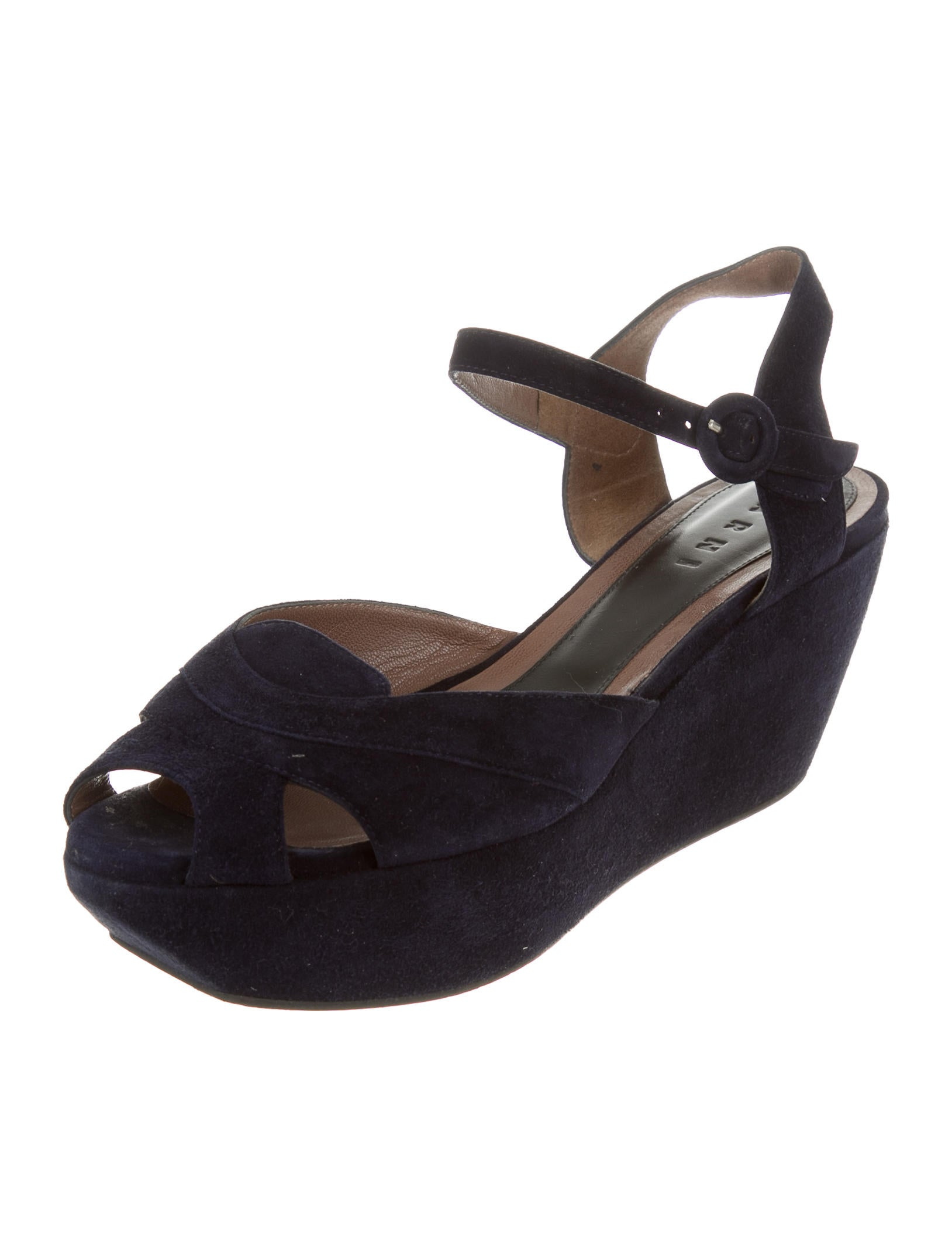 marni suede platform sandals shoes man53428 the realreal
