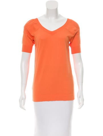 Marni Short Sleeve V-Neck Top w/ Tags None