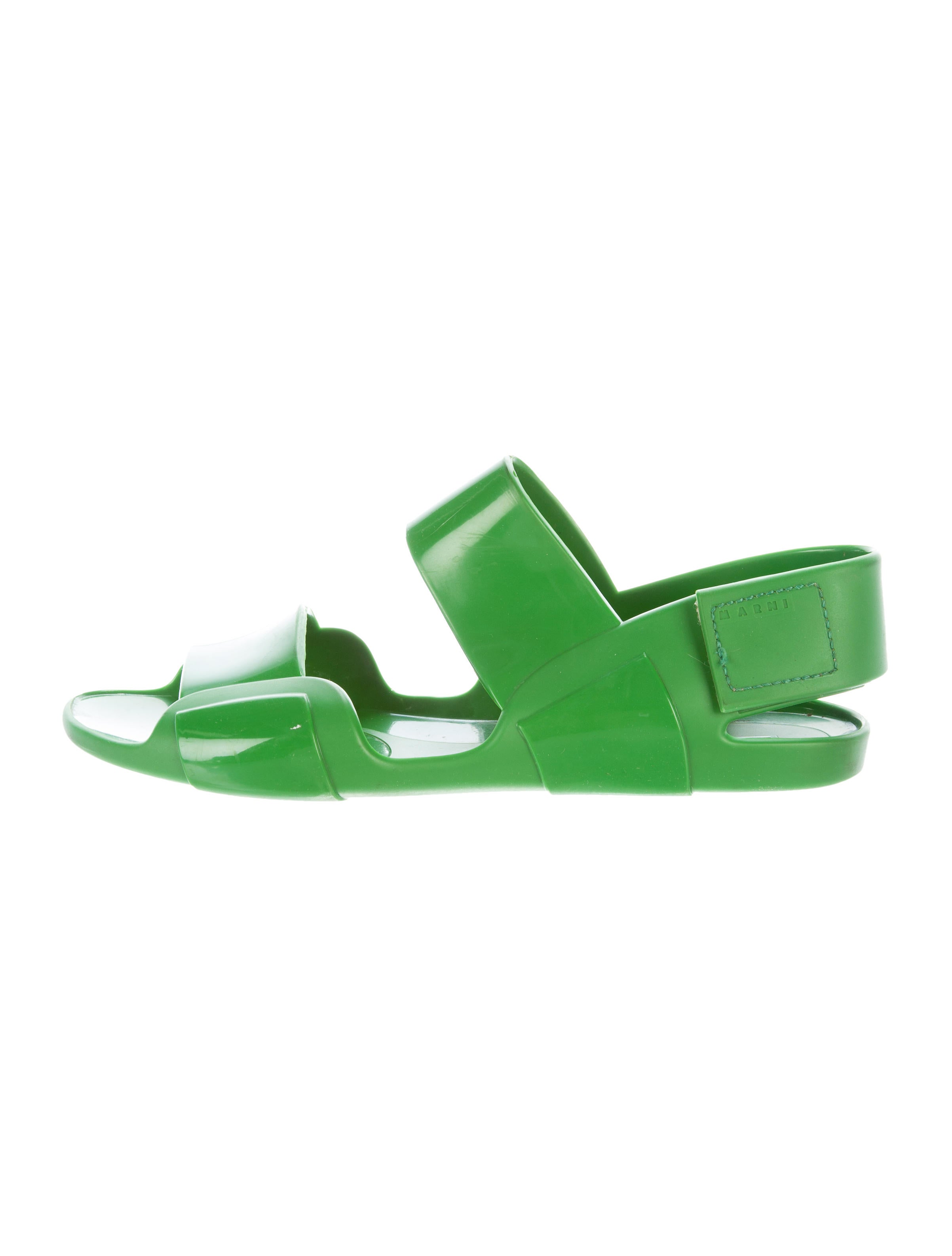 Marni Rubber Slingback Sandals with credit card for sale collections sale online 2NYRGiufGJ
