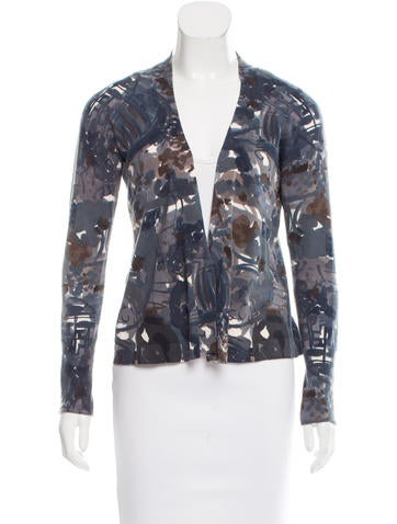 Marni Abstract Print Open Front Cardigan None