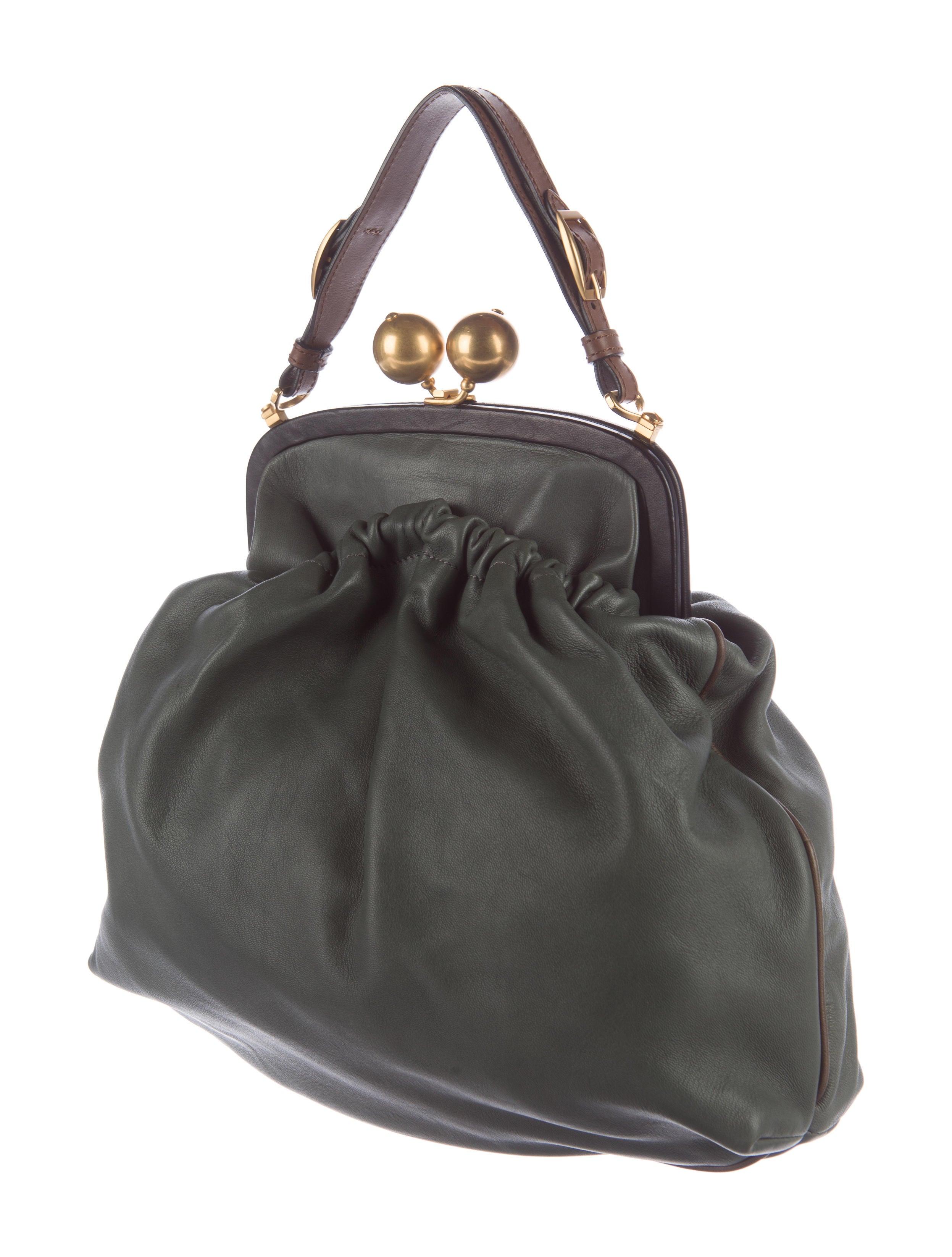 Marni Leather Kiss Lock Frame Bag Handbags Man54497