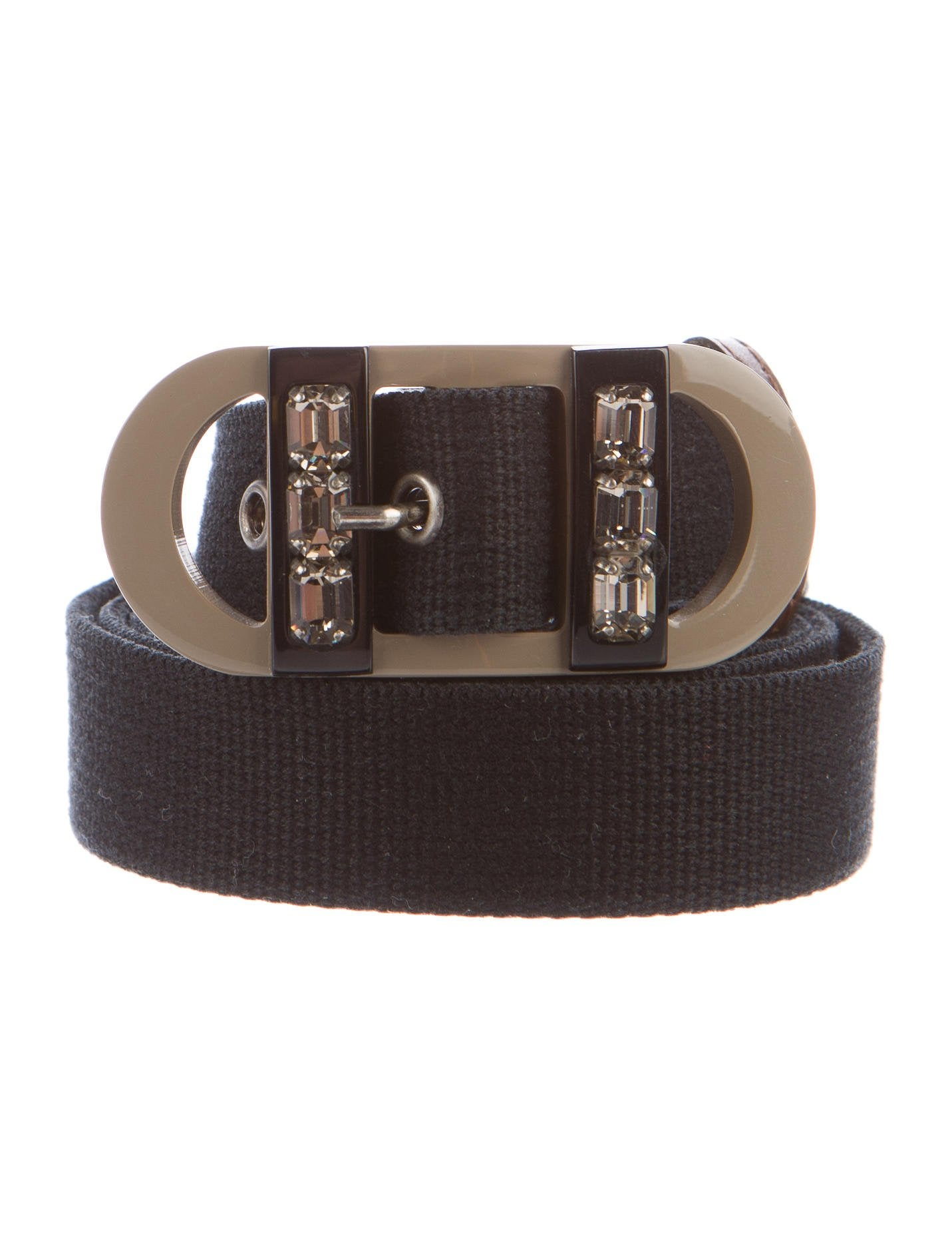 White by Vera Wang Crystal Embellished Belt. Mixed-crystal belt in bold diamond pattern with adjustable back. Imported.