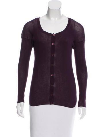 Marni Rib Knit Button-Up Top w/ Tags None