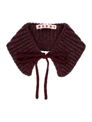 Marni Wool Rib Knit Collar w/ Tags None