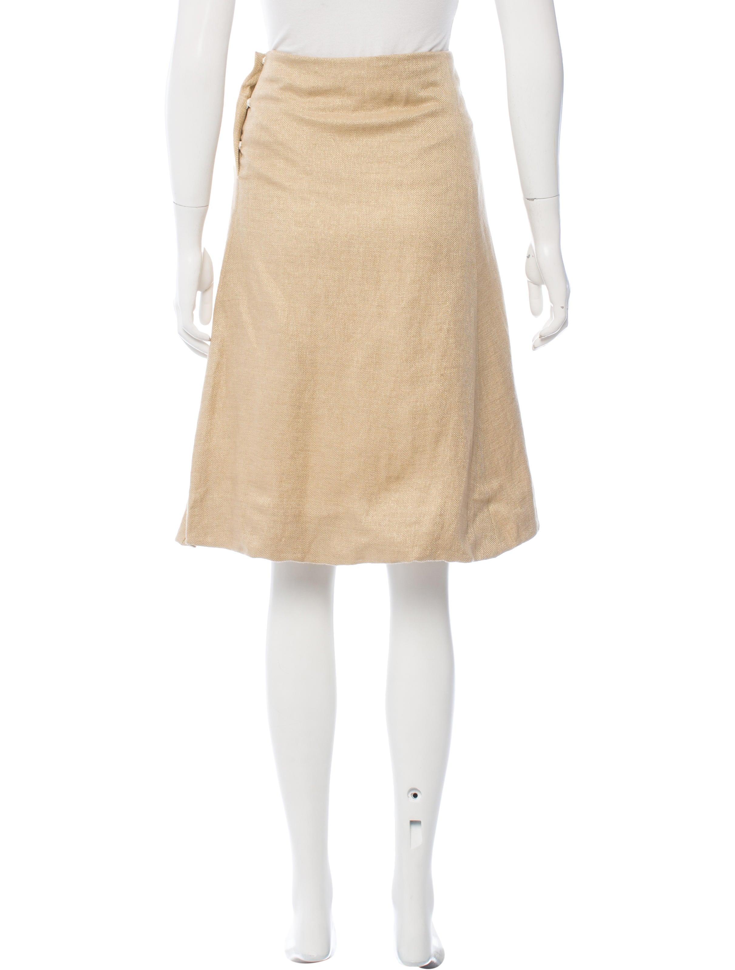 marni linen knee length skirt clothing man55734 the