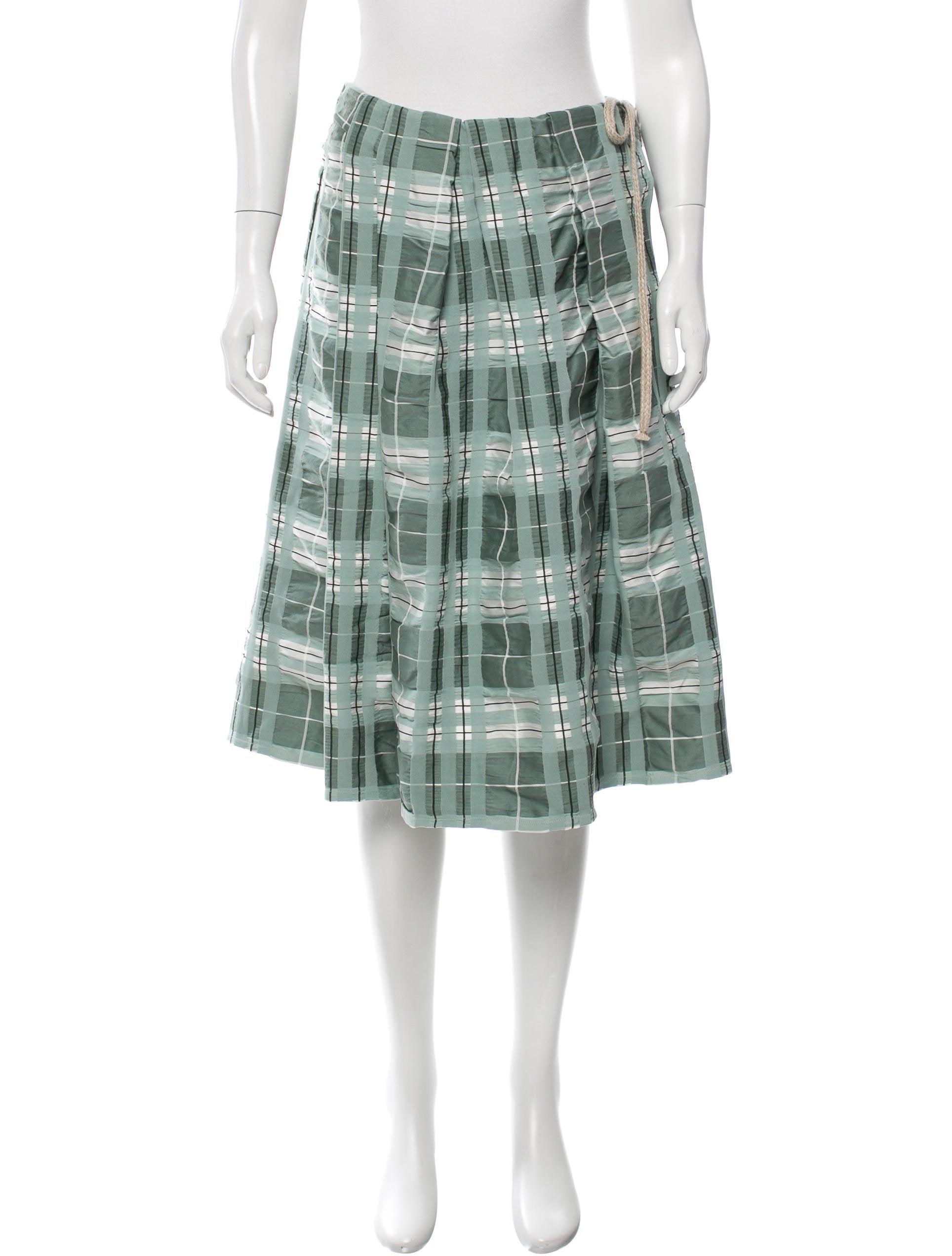 marni plaid knee length skirt clothing man55773 the