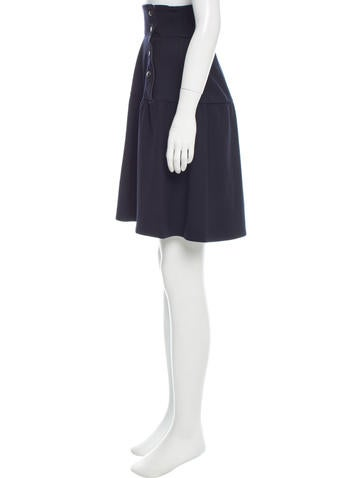 marni fit and flare knee length skirt clothing