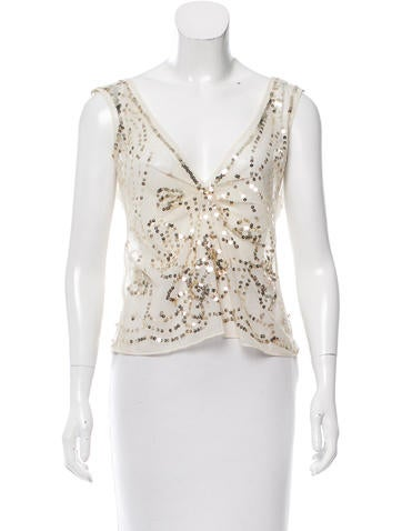 Marni Sequined Crop Top None