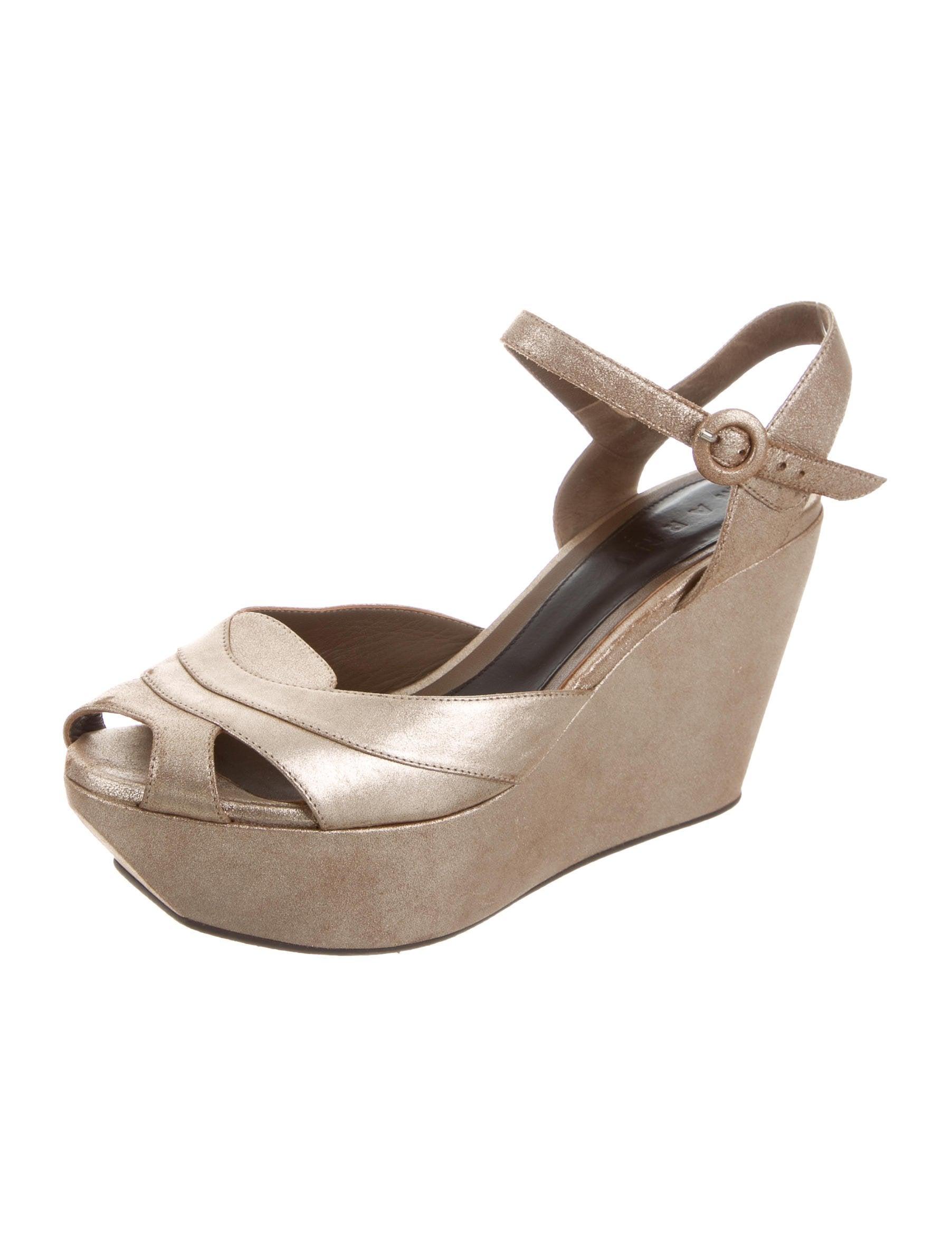 marni metallic platform sandals shoes man56317 the