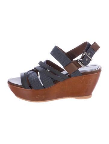 Marni Woven Platform Wedge Sandals None
