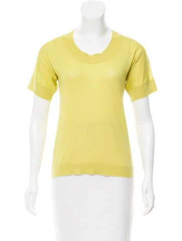 Marni Short Sleeve Cashmere Top None
