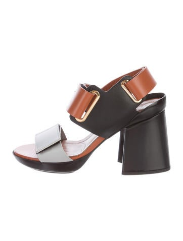 Marni Leather Velcro Sandals w/ Tags None