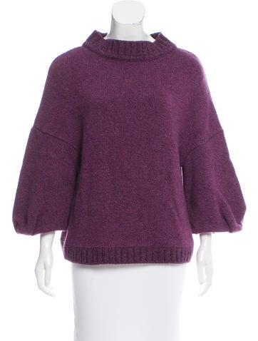 Marni Mock Neck Cashmere Sweater None