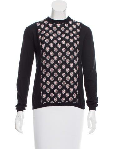 Marni Silk-Paneled Cashmere Sweater None