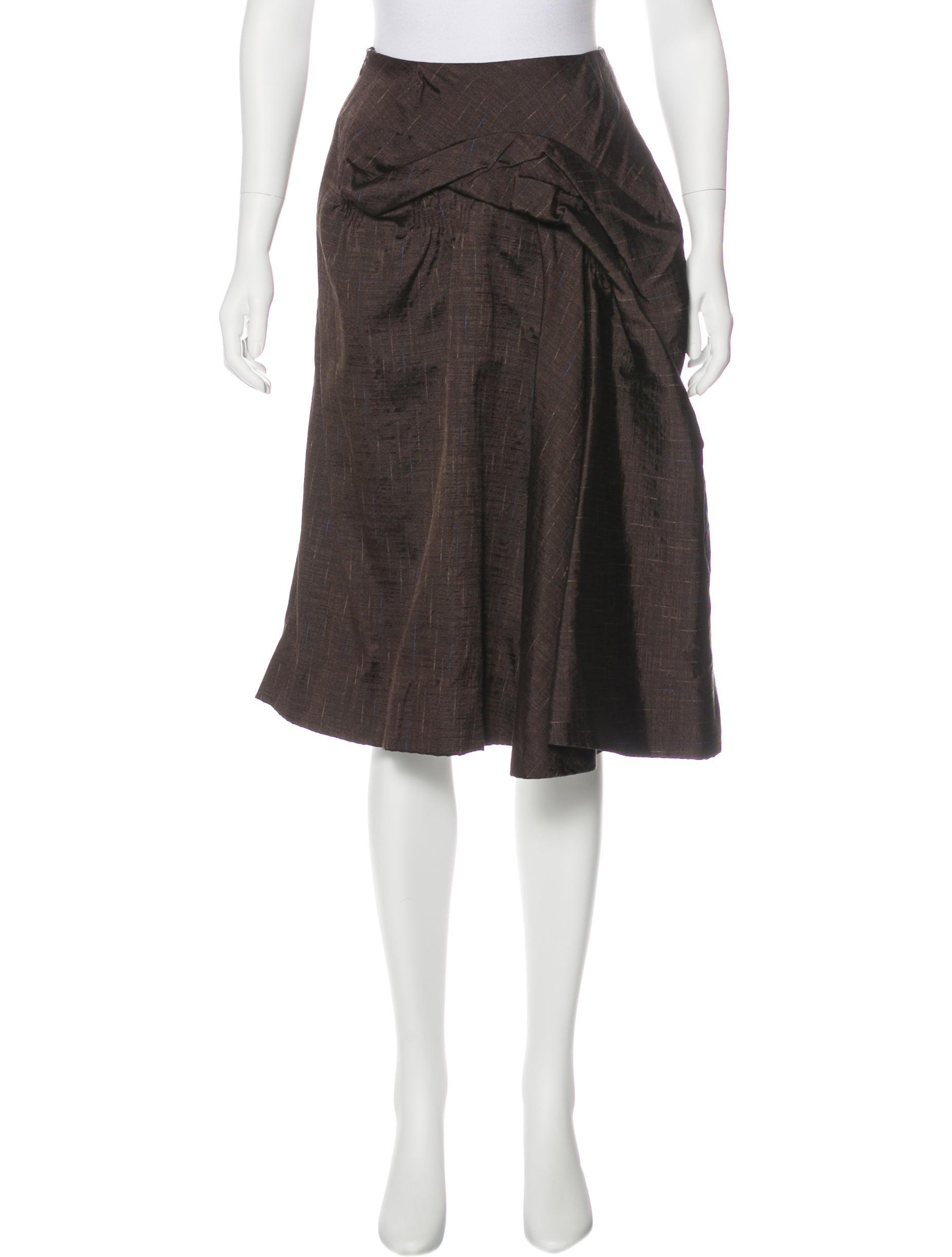 marni silk a line skirt clothing man58539 the realreal