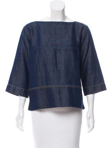 Marni Denim Boxy Top None