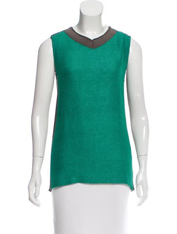 Marni Contrast Rib Knit Top None