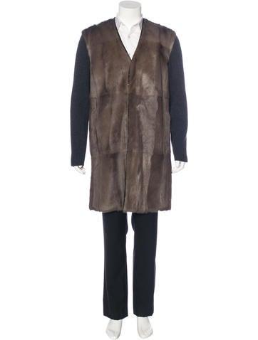 Marni Fur Wool Coat w/ Tags None