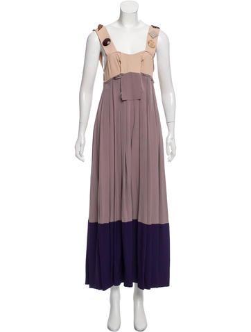 Marni Embellished Sleeveless Maxi Dress None