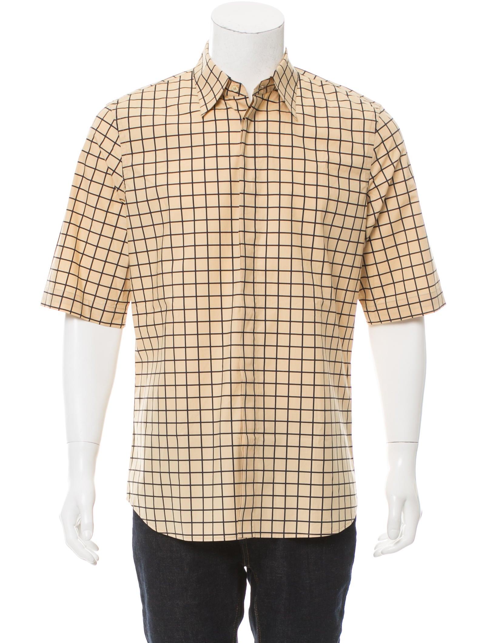 Marni Windowpane Button-Up Shirt - Clothing