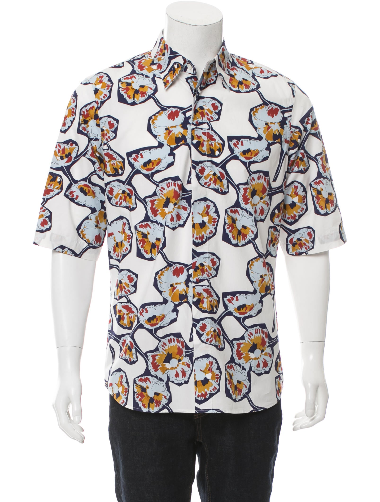 Marni floral print button up shirt w tags clothing for Floral print button up shirt