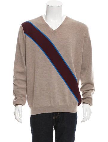 Marni Virgin Wool V-Neck Sweater None