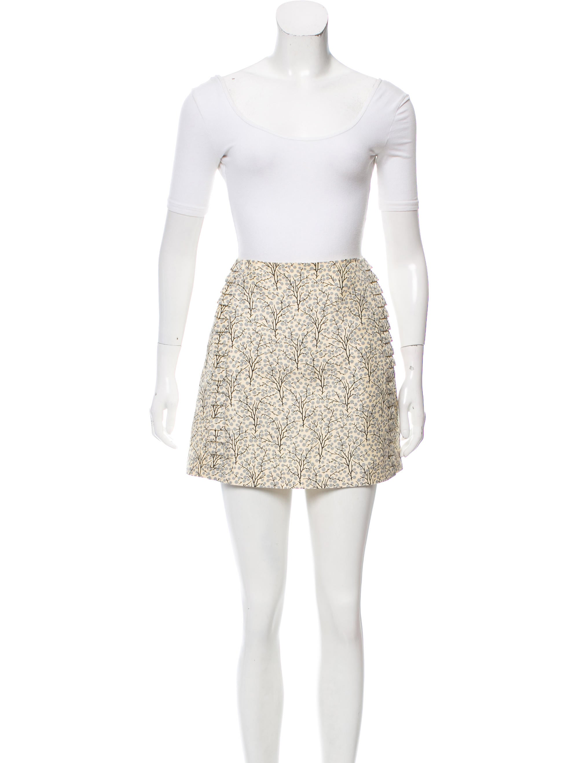 Paisley Knit Skirt Set: Two-piece set in a soft and flowing knit. Faux-wrap with surplice front and flattering side ruching. Faux-wrap with surplice front and flattering side ruching. Sweeping, maxi-length skirt with yoke waist.4/5(9).