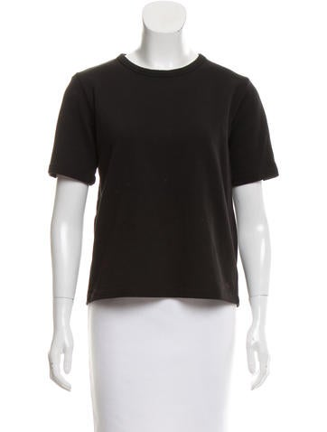 Marni Tie-Accented Short Sleeve Top None