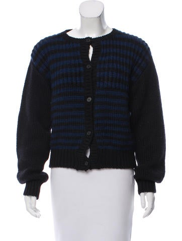 Marni Striped Wool Cardigan None