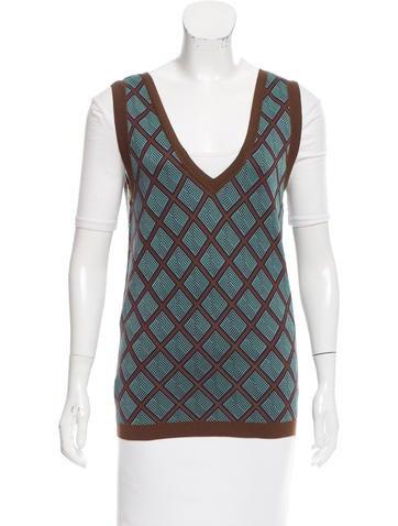 Marni Geometric Knit Vest None