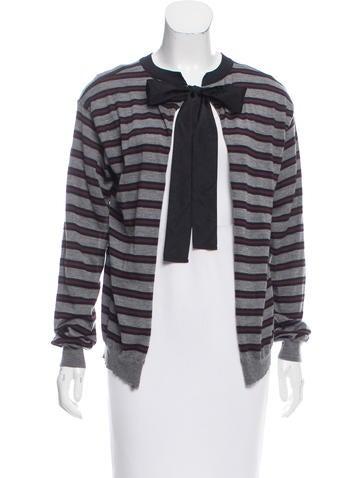 Marni Striped Cashmere Cardigan None