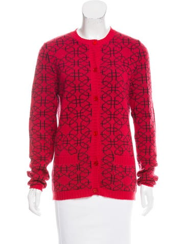 Marni Patterned Cashmere Cardigan None